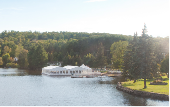 Second water marquee event in Québec - corporate event in Tremblant, Québec