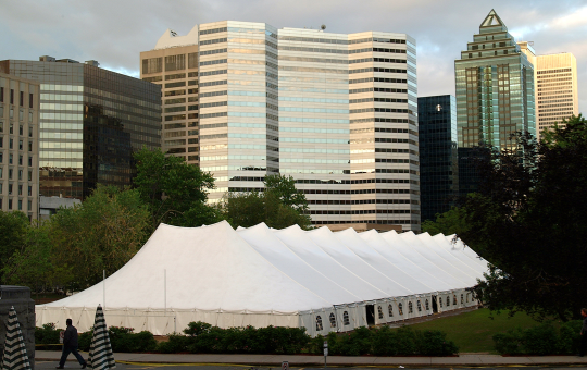 First outdoor marquee tent event in 50 year