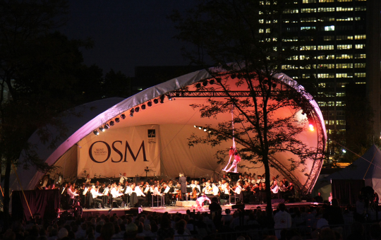 Orchestre symphonique de Montréal (OSM) concerts in the parks